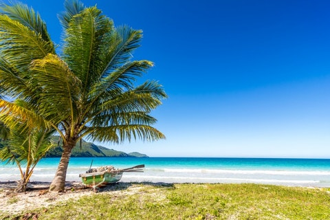 beaches in Caribbean, Playa Rincon, near Las Galeras, blue, sky, sea, beautiful, water, nature, palm, galeras, republic, landscape, 11 Best Places to Visit in Dominican Republic for Singles