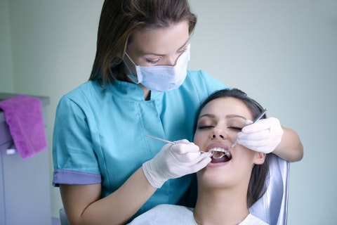dental, hygienist, clinic, medical, patient, adult, tools, open, female, visit, mirror, examining, girl, woman, professional, procedure, orthodontic, mouth, dentistry, gloves,