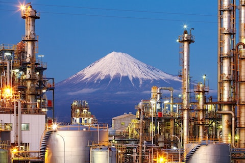 japan, power, plant, environmental, mt, fuji, tower, electric, natural, white, view, pollution, night, electricity, mount, light, evening, technology, energy, gas, zone, industrial,