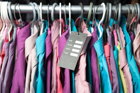 retail, clothing, shirt, expensive, clothes, blank, tag, new, garment, rack, fashion, price, label, dress, jacket, collection, colors, design, colorful, t-shirt, hang, store, hanger,