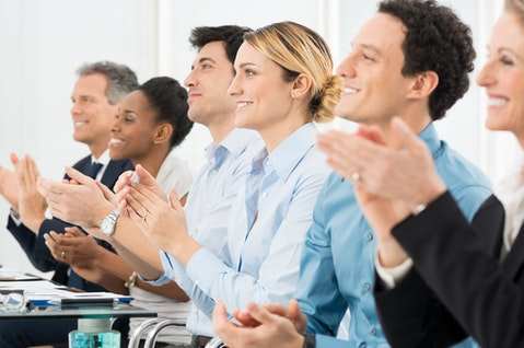 greeting, business, row, support, group, meeting, latin, achievement, corporate, cheering, sitting, success, presentation, teamwork, partnership, satisfaction, people, ethnic,